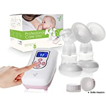 BabySteps Independent Double Electric Breast Pump, Motor Weighs 0.9 Pounds, With Bottle Adaptors for Wide and Standard Neck Bottles, FDA Approved, BPA Free
