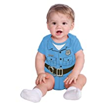 Rubies Baby Costume, Police Officer Onesie, Blue, 6-12 Months