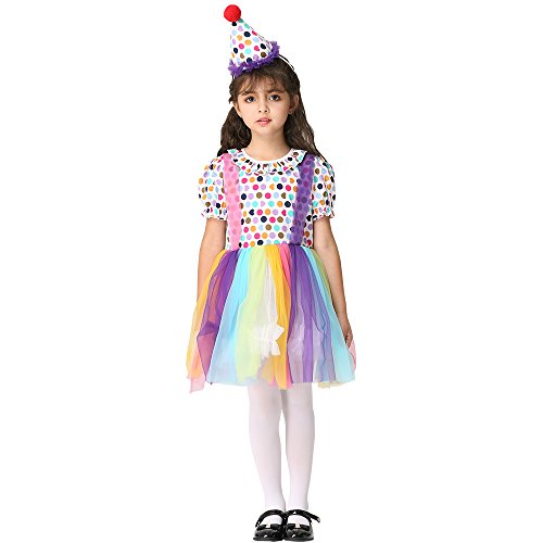Toddler Kid Girl Clown Halloween Costumes Cosplay Circus