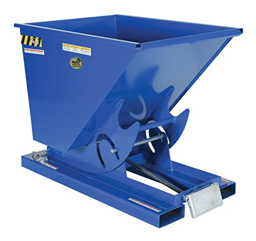 Vestil D-50-MD Medium Duty Self Dumping Hopper with Bumper Release, Steel, 4000 lb. Capacity, Overall L x W x H (in.) 51-7/8