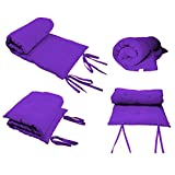 Queen Size Purple Guest Bed Rolling Mattresses Comfort Floor Mat Pad 3 Inch