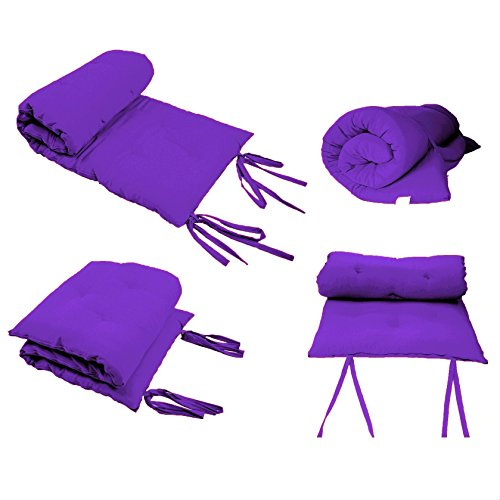 Queen Size Purple Guest Bed Rolling Mattresses Comfort Floor Mat Pad 3 Inch by Magshion Furniture