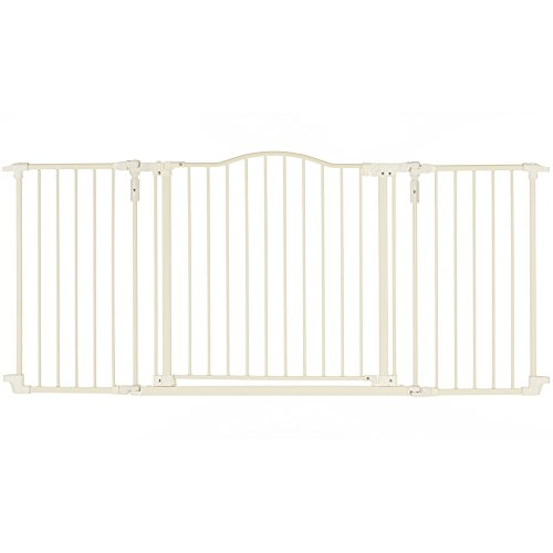 "Price comparison product image ""Deluxe Décor Gate,  Soft white Collection"" by North States: Beautiful gate that provides safety and one-hand functionality. Hardware mount. Fits openings 38.3"" to 72"" (30"" tall,  Soft white)"