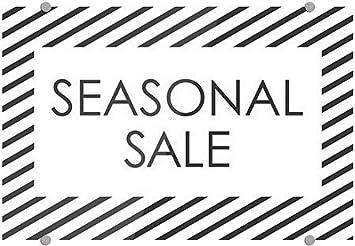 Seasonal Sale Stripes White Premium Brushed Aluminum Sign CGSignLab 36x24