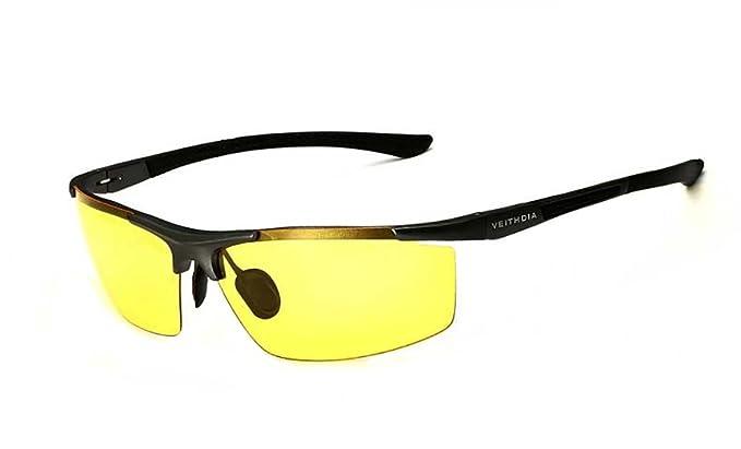 VEITHDIA - Gafas de sol - para hombre Amarillo Night: Amazon.es: Ropa y accesorios