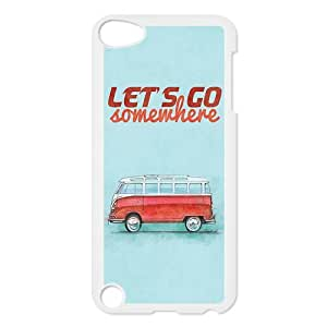 VW Minibus Teal iPod Touch 5 5G 5th Generation Back Plastic Case Cover