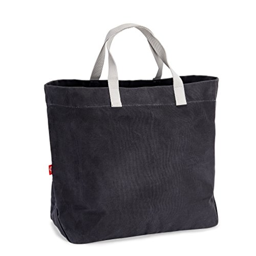EJOY Waxed Canvas Market Tote - Large Travel, Beach and Shopping Bag ()
