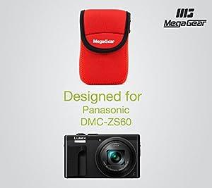 MegaGear ''Ultra Light'' Neoprene Camera Case Bag with Carabiner for Panasonic ZS60, DMC-TZ80 Digital Camera