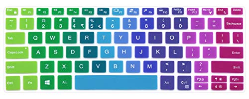 Silicone Keyboard Cover Skin Protector Compatible 2019 Dell XPS 13 9380 & 2018 Released Dell XPS 13 9370 & 2017 Dell XPS 13 9365 13.3 inch 2 in 1 Ultrabook Laptop (NOT Fit Other Models) (Rainbow)