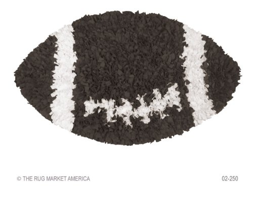 Shaggy Raggy Football Kids Rug Rug Size: 3' x 3' ()