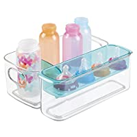 mDesign Baby Mealtime Adjustable Storage Organizer for Bottles, Sippy Cups, B...