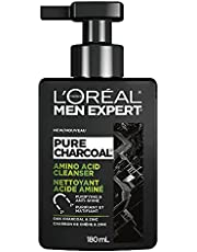 L'Oreal Men Expert Daily Face Wash for Men with Amino Acid for Oily Skin; Purifying & Anti Shine; Pure Charcoal