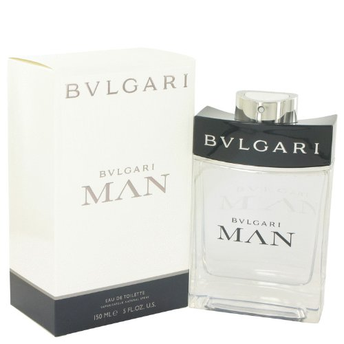 Bvlgari Man Eau de Toilette Spray for Men Parfum perfume EAU 5 oz / 150 (Adi Earring)
