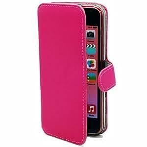 Beautiful PU Smooth Folding Multi Card Slot Leather Sheath for iPhone 5C (Assorted Colors) , Black