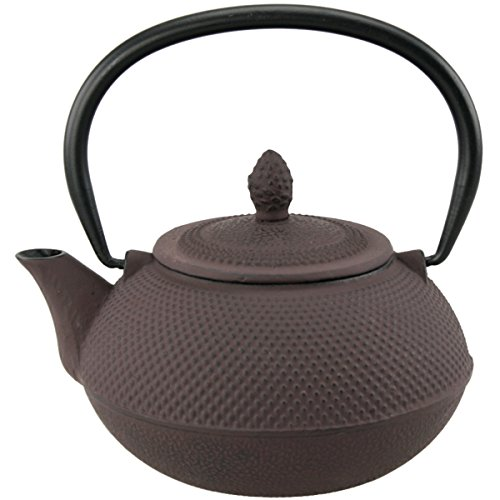 (Creative Home 73479 Cast Iron Tea Pot with Infuser Basket, 30 oz,)
