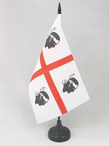 AZ FLAG Drapeau de Table Sardaigne 21x14cm