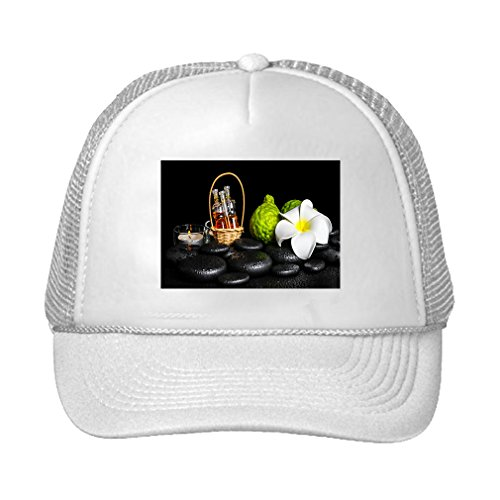 Speedy Pros Aromatic Spa Set Bergamot Fruits Candles Adjustable High Profile Trucker Hat Cap White
