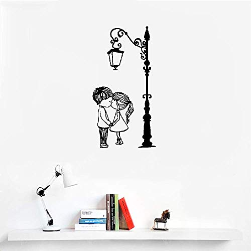 Liuaio Quotes Wall Sticker Mural Decal Art Home Decor Cute Couple with Lamp Post