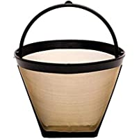 GoldTone Reusable 4 Cup #2 Cone Coffee Filter - #2 Cone Permanent Coffee Filter - fits MOST Cuisinart, Krups, and other #2 Cone Coffee Makers that use Filter Size: 4 inch top diameter 3.25 inch height