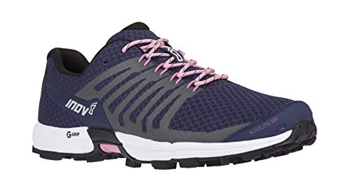 Inov-8 Womens Roclite 290 V2   Trail Running OCR Shoes   Lightweight   Superior Durability & Unrivalled Graphene Grip   Navy/Pink M7.5/ W9