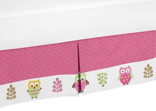 Sweet Jojo Designs Queen Kids Children's Bed Skirt for Pink Happy Owl Bedding Sets by Sweet Jojo Designs (Image #2)