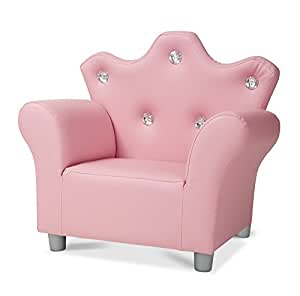 Melissa Amp Doug Child S Crown Armchair Pink Faux Leather
