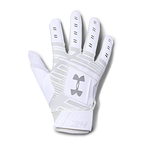 Under Armour Boys' Men's Harper Hustle Baseball Gloves, White (100)/Overcast Gray, ()