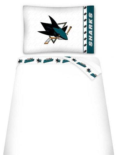 NHL San Jose Sharks Micro Fiber Sheet Set (Twin)
