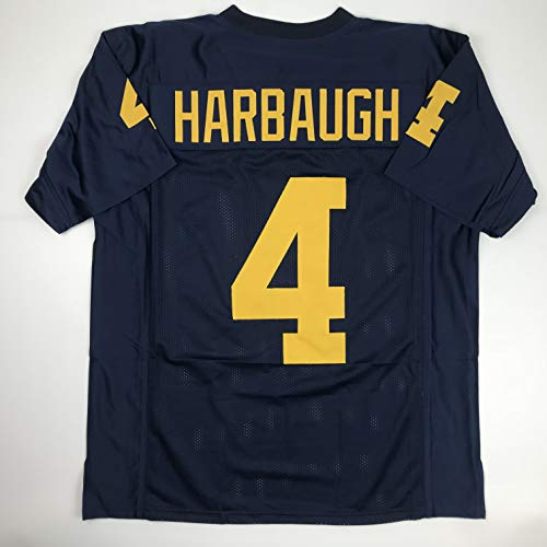 - Unsigned Jim Harbaugh Michigan Blue Custom Stitched College Football Jersey Size Men's XL New No Brands/Logos
