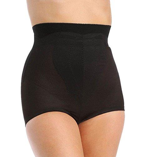 RAGO Style 6296  High Waist Medium Shaping Panty Brief Black XXLarge / 34 (Waist Brief Rago Control High)