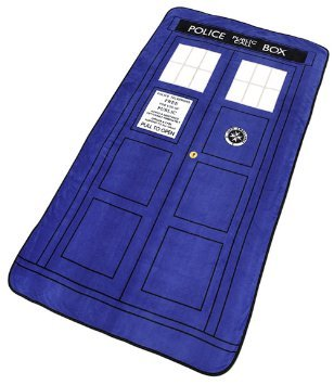 Doctor Who Tardis Large Throw Blanket - LARGEST & NEWEST & SOFTEST Throw Blanket 50