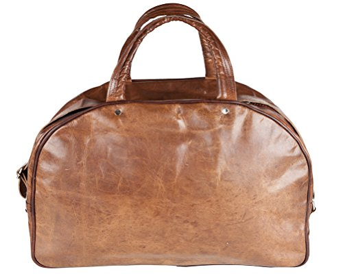 Weekend Leisure Genuine Sports Vintage Travel 81stgeneration Bag Leather Gym Holdall qPWtWAcS