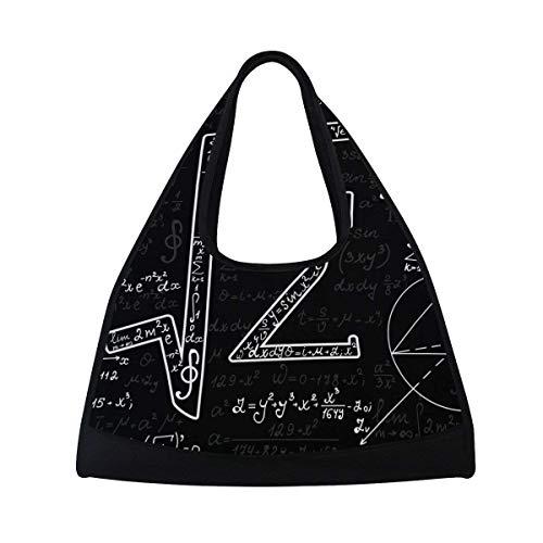 Sports Gym Bag Mathematical Formula Duffel Bag Travel Shoulder Bag