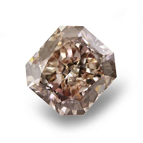 4.04 CT Radiant I1 ORANGE Brown Fancy Loose Diamond! (I1 Radiant Loose Diamonds)