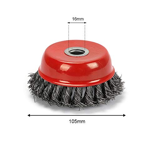 Maslin 105mm Twist Knot Wire Wheel Cup Brush Set For Grinder 4'' Max 8500RPM New