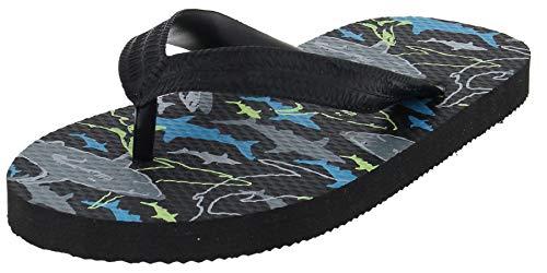 (Capelli New York Deep Sea Shark Boys Flip Flops Black Combo 12/13)