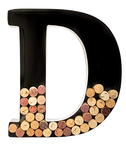 Wine Cork Holder - Metal Monogram Letter (D)