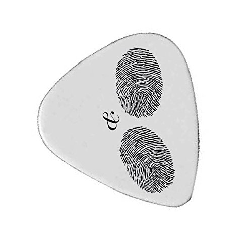 Hand Thumb Print  Custom Guitar Pick For Music Lover With Quotes   Personalized Unique Plectrum   Gift For Guitar Lovers   Boy Friend Present