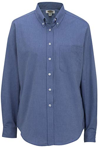 - Edwards Ladies' Long Sleeve Oxford Shirt 3XL French Blue