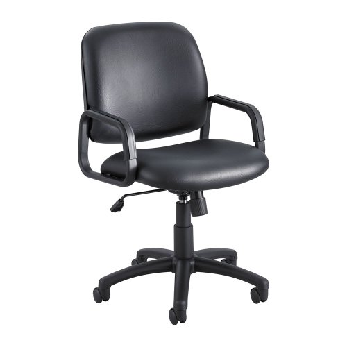 Safco Products Cava Collection (Cava Collection High-Back Swivel/Tilt Chair, Black Frame/Black Vinyl)