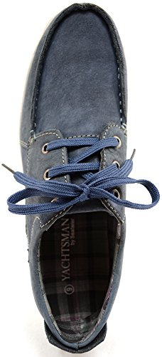 Lace Holiday Summer Leather Up Navy Shoes Suede Casual Mens Boat Real Deck I0qw4