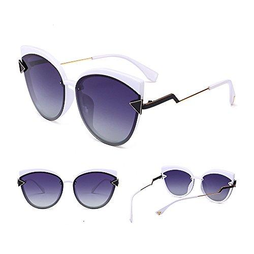 polarizadas UV Sol Gu la para Protección Ojos Exquisito Decoración Vacaciones de Color Aire C5 Conducción Libre Gato para Triángulo Mujeres Playa de Gafas C4 al Peggy vzwqa6C6