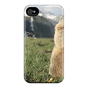 For WilliamMendez Iphone Protective Case, High Quality For Iphone 4/4s Marmot Skin Case Cover