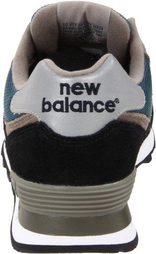 New Balance 574 Core, Scarpe da Ginnastica Uomo Nero (Navy With Teal & Grey)