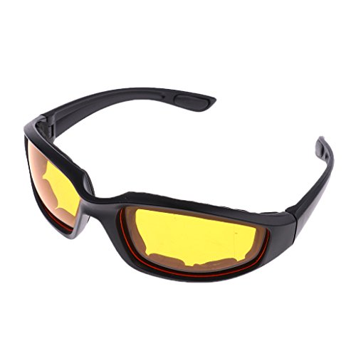 Baoblaze Motorcycle Riding Glasses Comfortable Vented Foam Padding on the Entire Inside of the Glasses Plus Anti Fog - Inside Sunglasses Wears Who