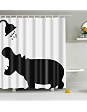 Mantto Merry Christmas Season Eve New Year Decorative Decor Gift Shower Curtain, Polyester Fabric Bathroom Shower Curtain Set with Hooks 72x72 inch