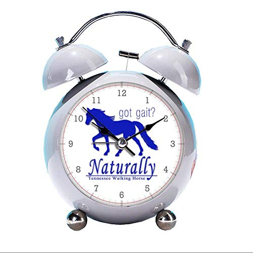 GIRLSIGHT Cute Color Alarm Clock, Round Horse Desk Clock with Night Light got gait Naturally Tennessee Walking Horse Bedroom - Gait Horse Got