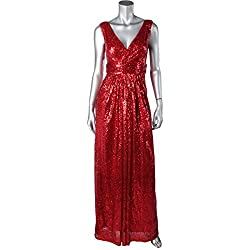 Kate Kasin Women Sequin Bridesmaid Dress Sleeveless Maxi Evening Prom Dresses