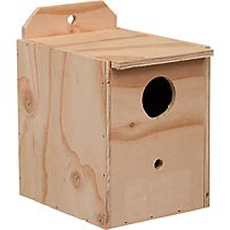 (Prevue Pet Products BPV1102 Wood Inside Mount Nest Box for Birds, Lovebird)