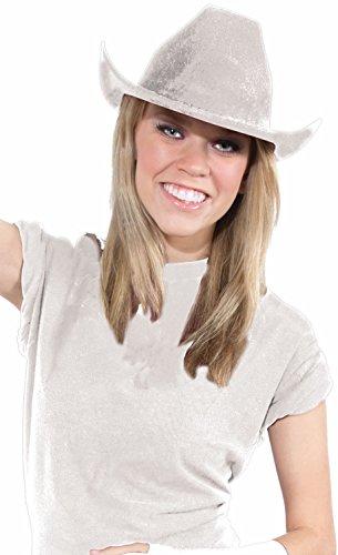 - Deluxe Cowboy Hat Team Spirit Adult Unisex, White, School Team Colors Fan Gear